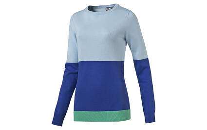New Womens Puma Golf Colorblock Sweater Cool Blue Small 570545 MSRP $70