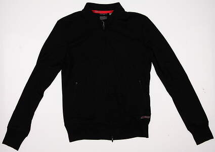 New Womens Puma Golf Track Jacket Small S Black