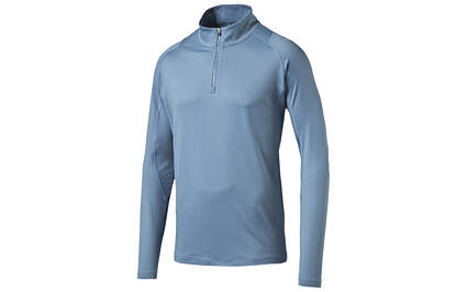 New Mens Puma 1/4 Zip Golf Popover Blue Heaven Medium Cresting Tech 570470 MSRP $65