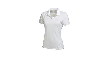 New Womens Puma Golf Cool Cell Mesh Stripe Polo Small White 569066 MSRP $60