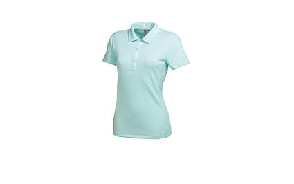 New Womens Puma Golf Tech Breathable Polo Cresting Small Clearwater Blue 568337 MSRP $50
