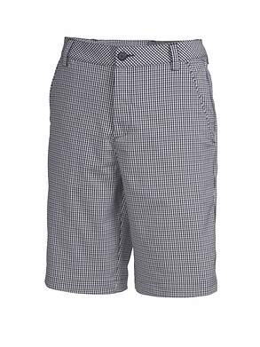 New Mens Puma Golf Plaid Tech Shorts Size 32 Peacoat/White/Gray Dawn MSRP $70