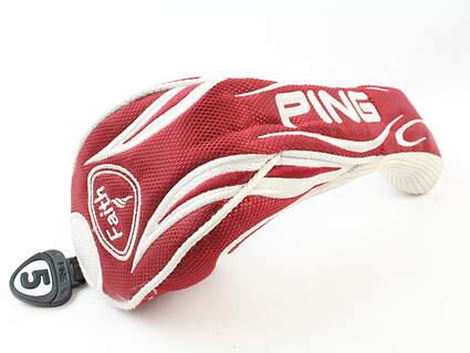 Ping Faith 5 Hybrid Headcover Head Cover Womens Red White Golf