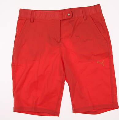 New Youth Puma Golf Shorts Size 4 Orange MSRP $64.99