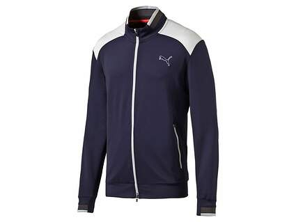 New Mens Puma Track Jacket Medium M Peacoat MSRP $95 570519