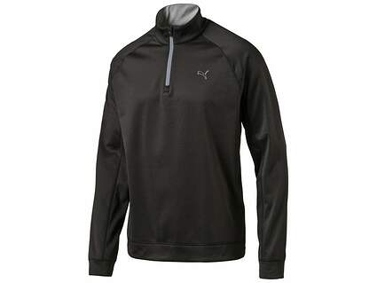 New Mens Puma Golf Fleece 1/4 Zip Popover Medium M Black 570471 MSRP $70