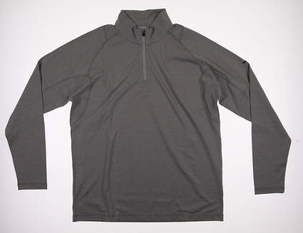 New Mens Puma Golf Tech 1/4 Zip Popover Medium M Light Gray Heather 570470 MSRP $65