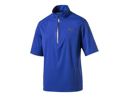 New Mens Puma Golf Short Sleeve Rain Popover Medium M Surf the Web Blue 570497 MSRP $90