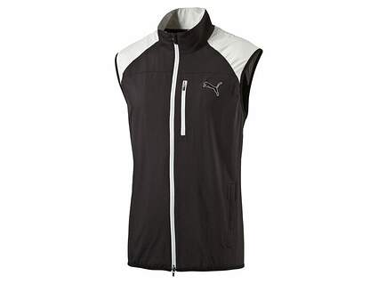 New Mens Puma Wind Vest Medium M Black MSRP $70 570496