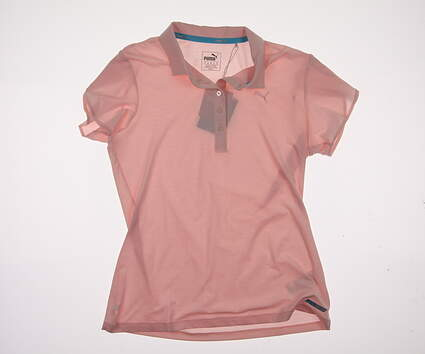 New Womens Puma Petal PWRCOOL Polo Small S Pink Dogwood MSRP $60 570540