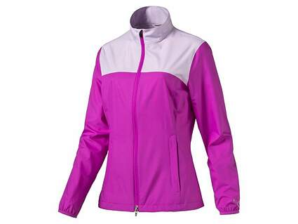 New Womens Puma Tech Wind Jacket Small S Purple Cactus Flower MSRP $70 570549