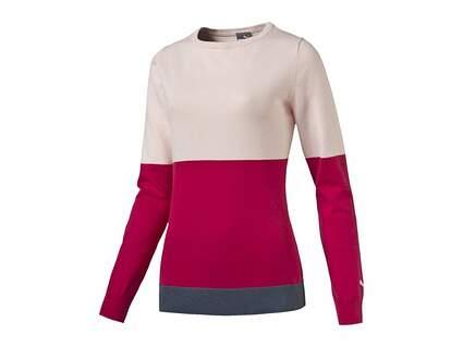 New Womens Puma Colorblock Sweater Small S Pink Dogwood 570545