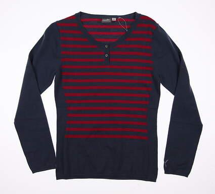 New Womens Puma Scoopneck Sweater Small S Bering Sea MSRP $75 570546