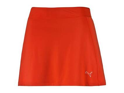 New Womens Puma Solid Knit Skort Size Small S Cherry Tomato MSRP $55 570561