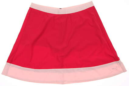 New Womens Puma Flare Skort Size Small S Rose Red MSRP $70 570563
