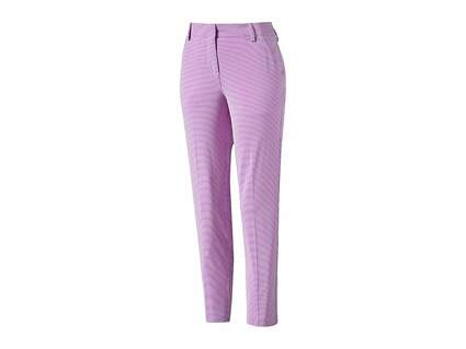 New Womens Puma Stretch Stripe Pants Size 4 Orchid Bloom MSRP $90 570557