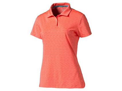 New Womens Puma Golf Space Dye PWRCOOL Polo Small S Fluroscent Peach (Orange) MSRP $60 570533