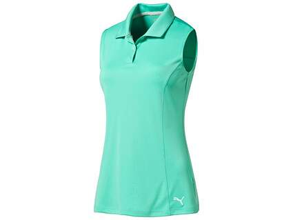 New Womens Puma Pounce Cresting Sleeveless Polo Small S Mint Leaf MSRP $45