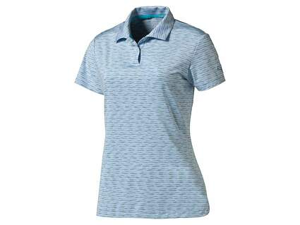 New Womens Puma Golf Space Dye PWRCOOL Polo Small S Cool Blue MSRP $60 570533 06