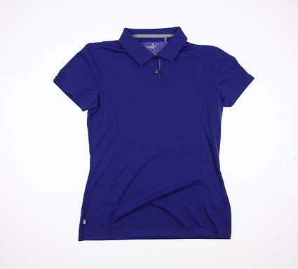 New Womens Puma Pouce Cresting Polo Small S Dazzling Blue MSRP $50 570527