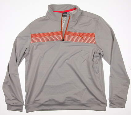 New Mens Puma All 1/4 Zip Block PWRWARM Pullover Medium M Glacier Gray MSRP $85 570518