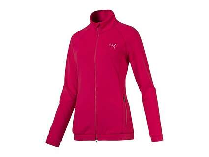 New Womens Puma Track Jacket Small S Rose Red MSRP $70 571160