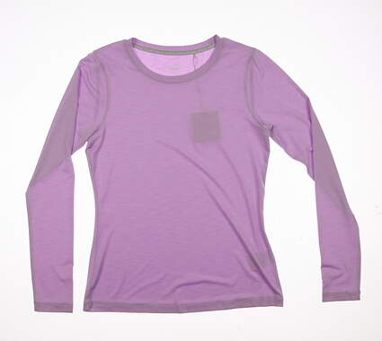 New Womens Puma Long Sleeve Crew Top Small S Orchid Bloom MSRP $50 570530