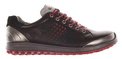 New Mens Golf Shoe Ecco BIOM Hybrid 2 46 (12-12.5) Black/ Brick MSRP $200