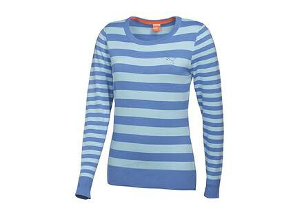 New Womens Puma Novelty Sweater Small S Ultramarine-Omphalodes MSRP $70