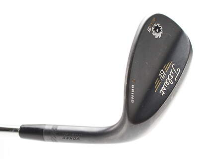 Titleist Vokey SM5 Raw Black Wedge Lob LW 60* 7 Deg Bounce Titleist SM5 BV Steel Wedge Flex Right Handed 35 in