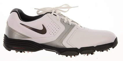 New Mens Golf Shoes Nike Lunar Saddle Medium 9.5 White 551456-100 MSRP $130