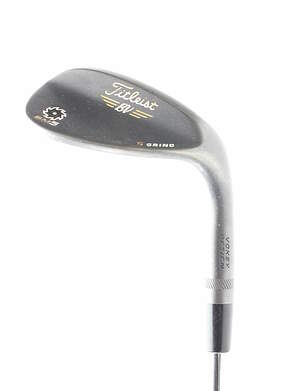 Titleist Vokey SM5 Raw Black Wedge Lob LW 58* 7 Deg Bounce Titleist SM5 BV Steel Wedge Flex Right Handed 35 in S GRIND