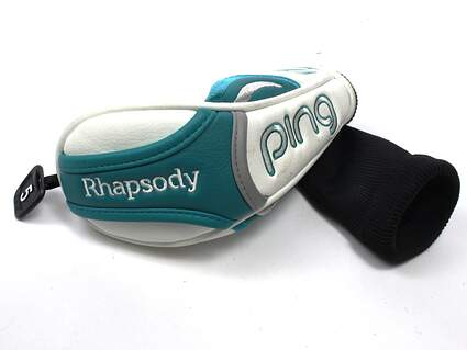 "Ping 2015 Rhapsody Hybrid Headcover 5 Tag Hyb White & ""Tropic"" Head Cover"