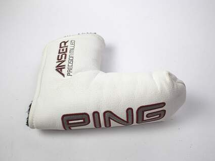 Ping Anser Milled Blade Putter Headcover White Magnetic Clasp Head Cover Golf