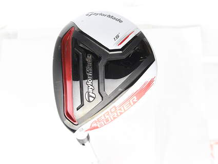 TaylorMade AeroBurner Fairway Wood 3 Wood 3W 15* Matrix Speed RUL-Z 60 Graphite Stiff Left Handed 43.25 in