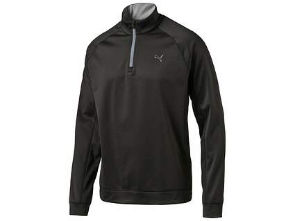New Mens Puma Golf Fleece 1/4 Zip Pullover Medium M Black MSRP $70
