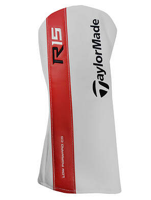 TaylorMade R15 Driver Headcover Golf Head Cover Red and White R 15 HC