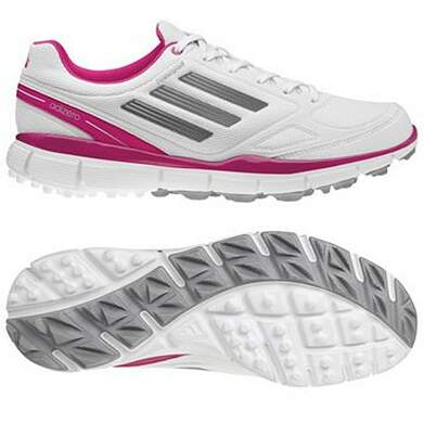 New Womens Golf Shoe Adidas Adizero Sport Medium 8 White/Pink MSRP $120