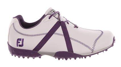 New Womens Golf Shoe Footjoy M Project Medium 9 White/Purple MSRP $120