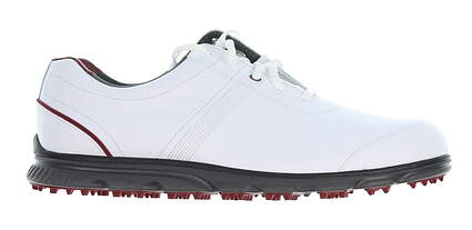 New Mens Golf Shoe Footjoy DryJoys Casual Medium 8 White/Red MSRP $149