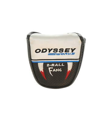 Odyssey Works Versa 2 Ball Fang Silver Top Putter Headcover Head Cover Golf