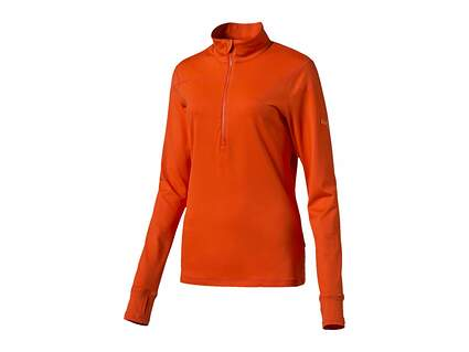 New Womens Puma Golf 1/2 Zip Pullover Small S Cherry Tomato MSRP $70