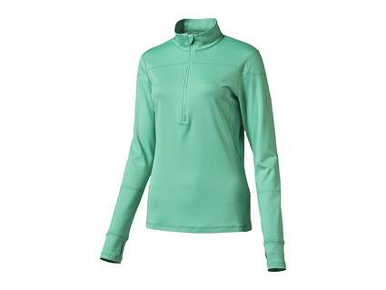 New Womens Puma Golf 1/2 Zip Pullover Small S Mint Leaf MSRP $70