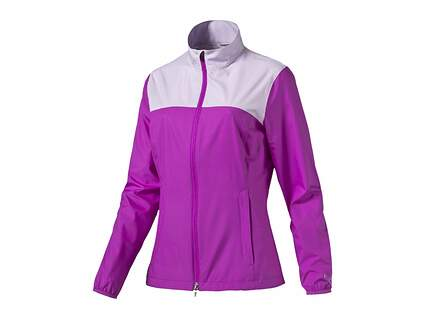 New Womens Puma Golf Jacket Small S Purple Cactus Flower MSRP $70