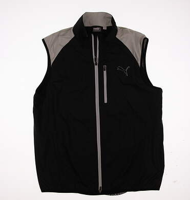 New Mens Puma Golf Wind Vest Medium M Black MSRP $80