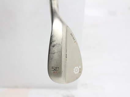 Titleist Vokey SM5 Gold Nickel Wedge Lob LW 58* 7 Deg Bounce S Grind Titleist SM5 BV Steel Wedge Flex Right Handed 35 in