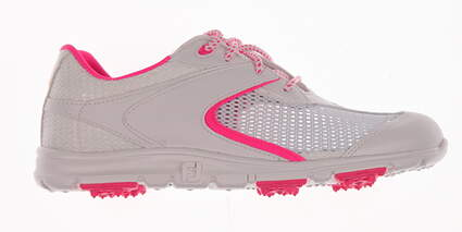 New Womens Golf Shoes Footjoy Superlites Spikeless Medium 7 White/Pink 98837 MSRP $95