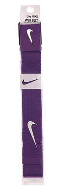 New Mens Nike Golf Web Belt Purple One Size Fits Most