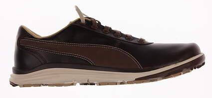 New Mens Golf Shoes Puma BioDrive Leather Medium 9.5 Bison Brown/White Swan 188202-02 MSRP $120