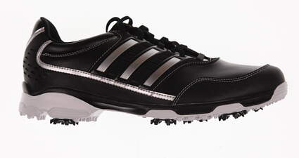 New Mens Golf Shoe Adidas Golflite Traxion Medium 9 Black/White